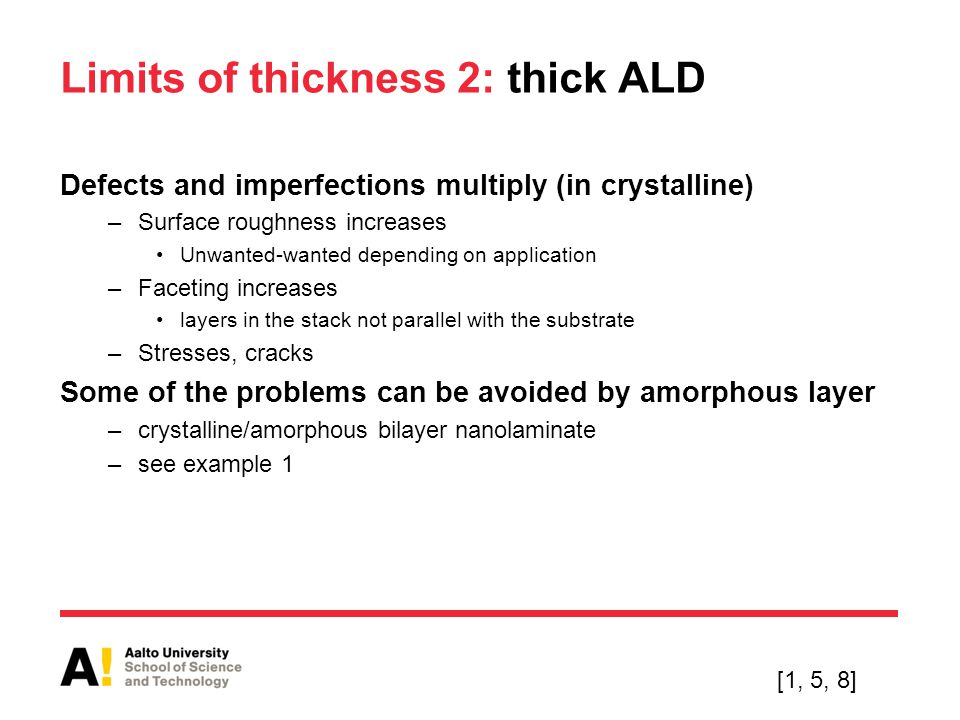 Limits of thickness 2: thick ALD