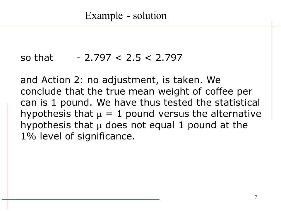 Example - solution so that - 2.797 < 2.5 < 2.797