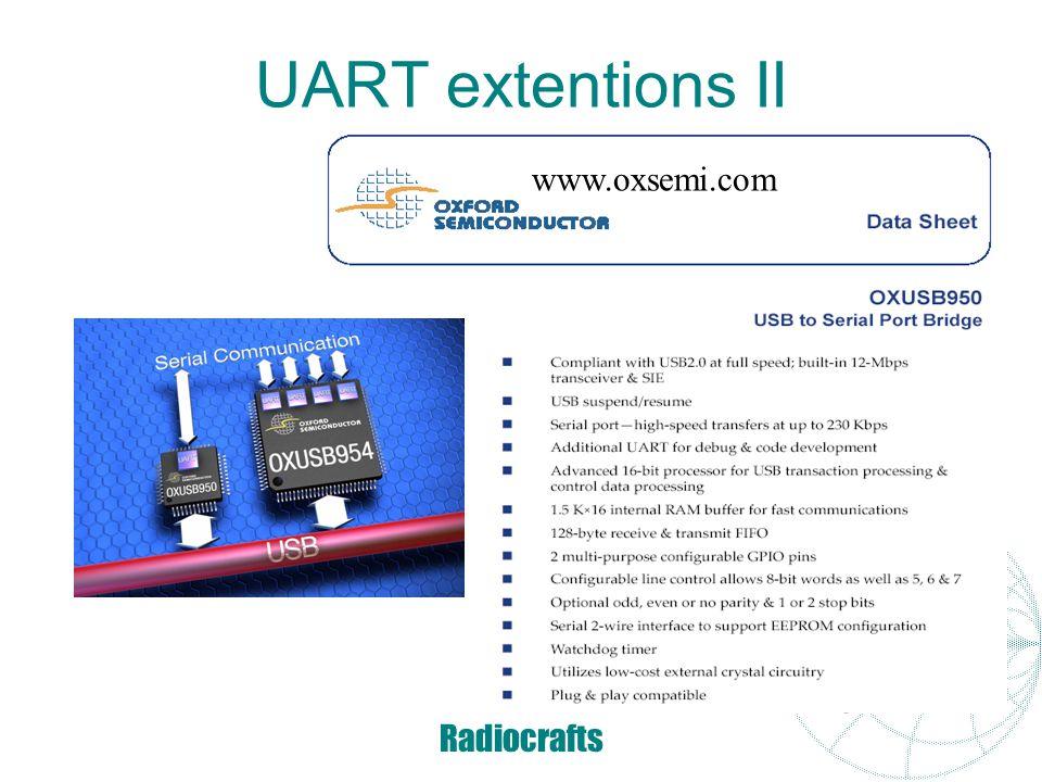 UART extentions II www.oxsemi.com www.ftdichip.com Radiocrafts