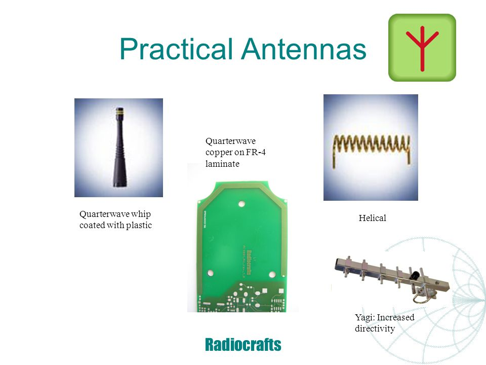 Practical Antennas Radiocrafts Quarterwave copper on FR-4 laminate