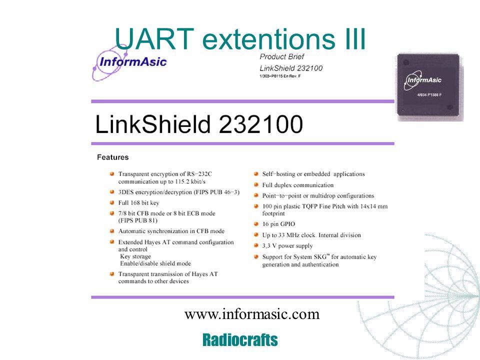 UART extentions III www.informasic.com Radiocrafts