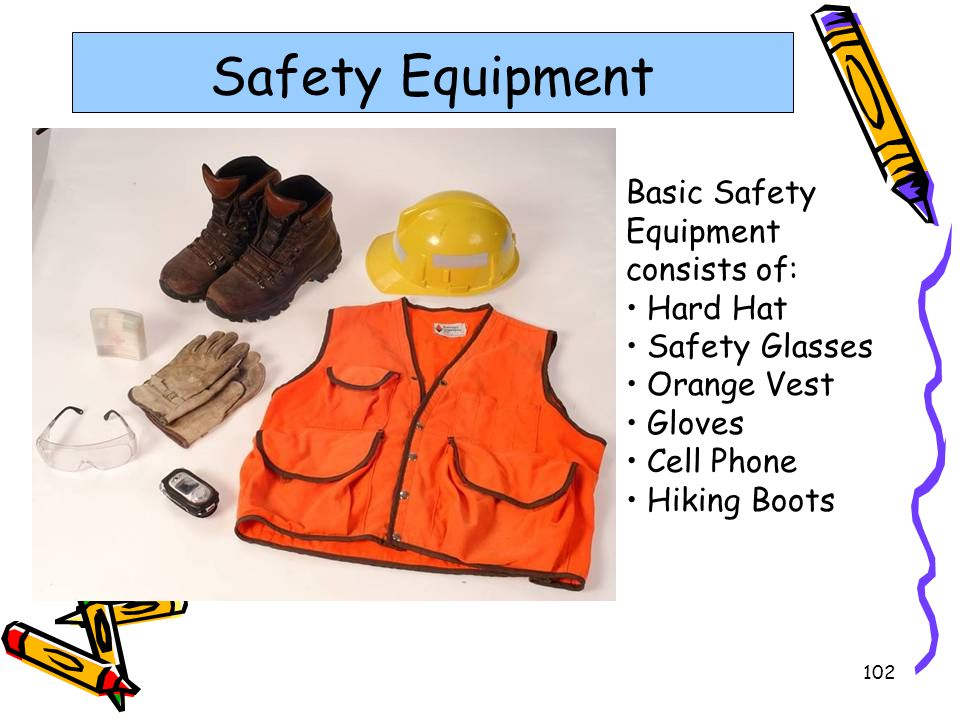 Safety Equipment Basic Safety Equipment consists of: Hard Hat