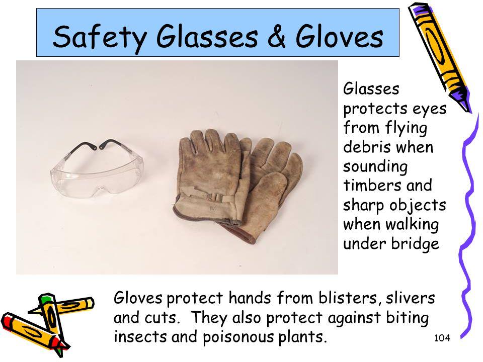 Safety Glasses & Gloves