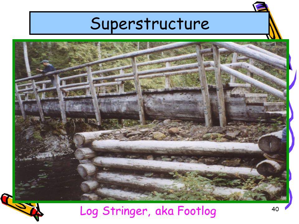 Log Stringer, aka Footlog