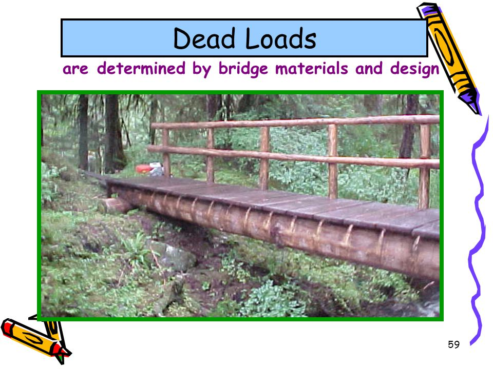 are determined by bridge materials and design