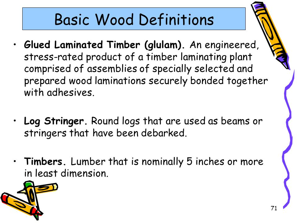 Basic Wood Definitions