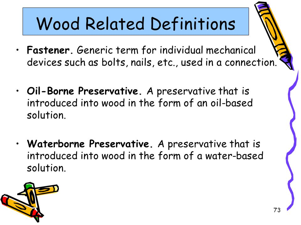Wood Related Definitions