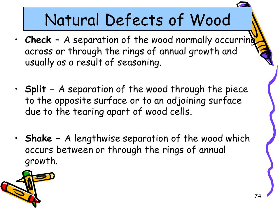 Natural Defects of Wood
