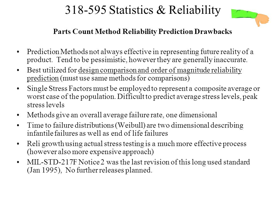 Parts Count Method Reliability Prediction Drawbacks