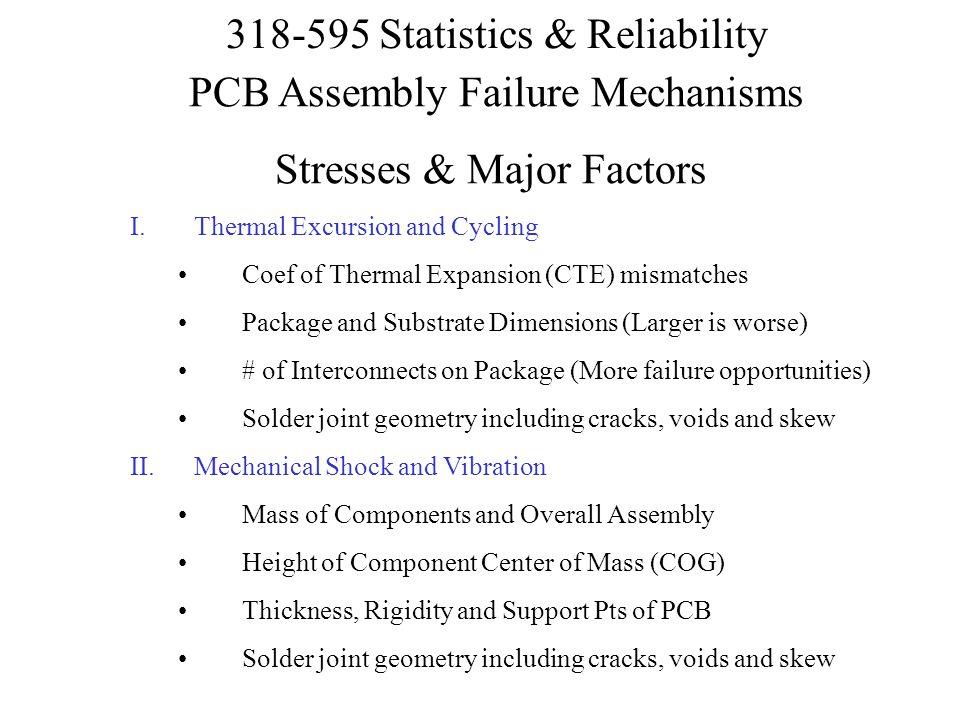 PCB Assembly Failure Mechanisms Stresses & Major Factors