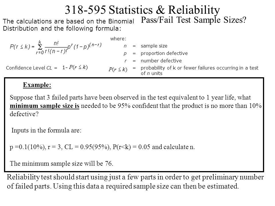 Pass/Fail Test Sample Sizes