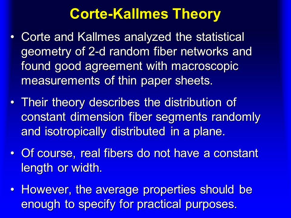 Corte-Kallmes Theory