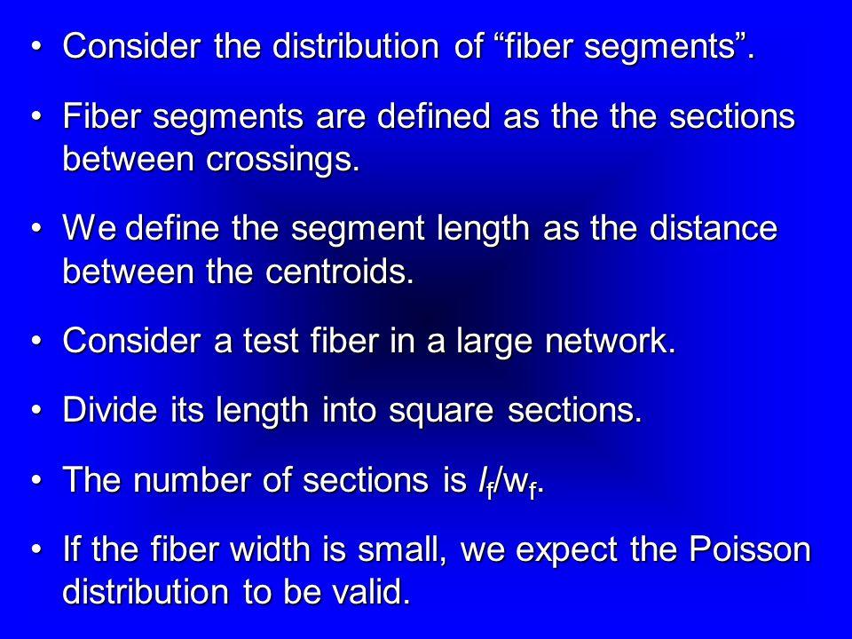 Consider the distribution of fiber segments .
