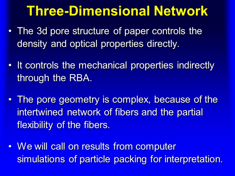 Three-Dimensional Network