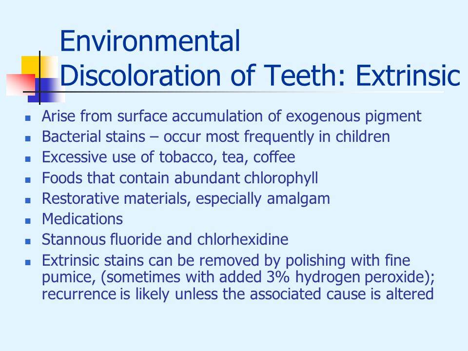Environmental Discoloration of Teeth: Extrinsic