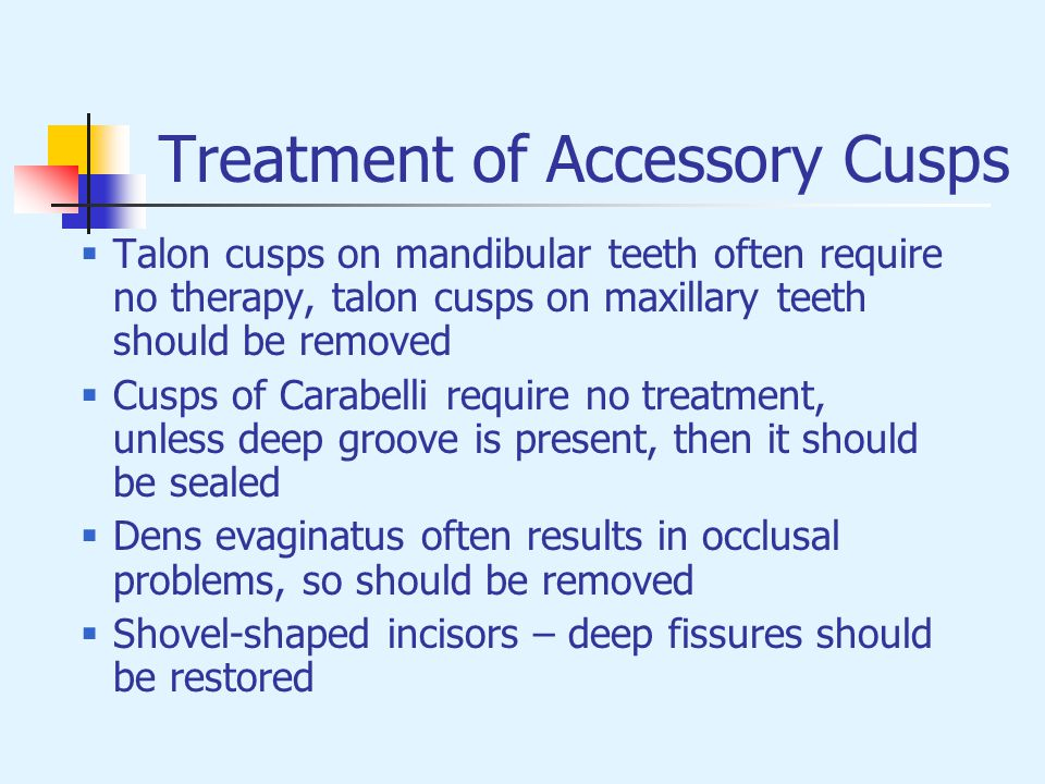 Treatment of Accessory Cusps