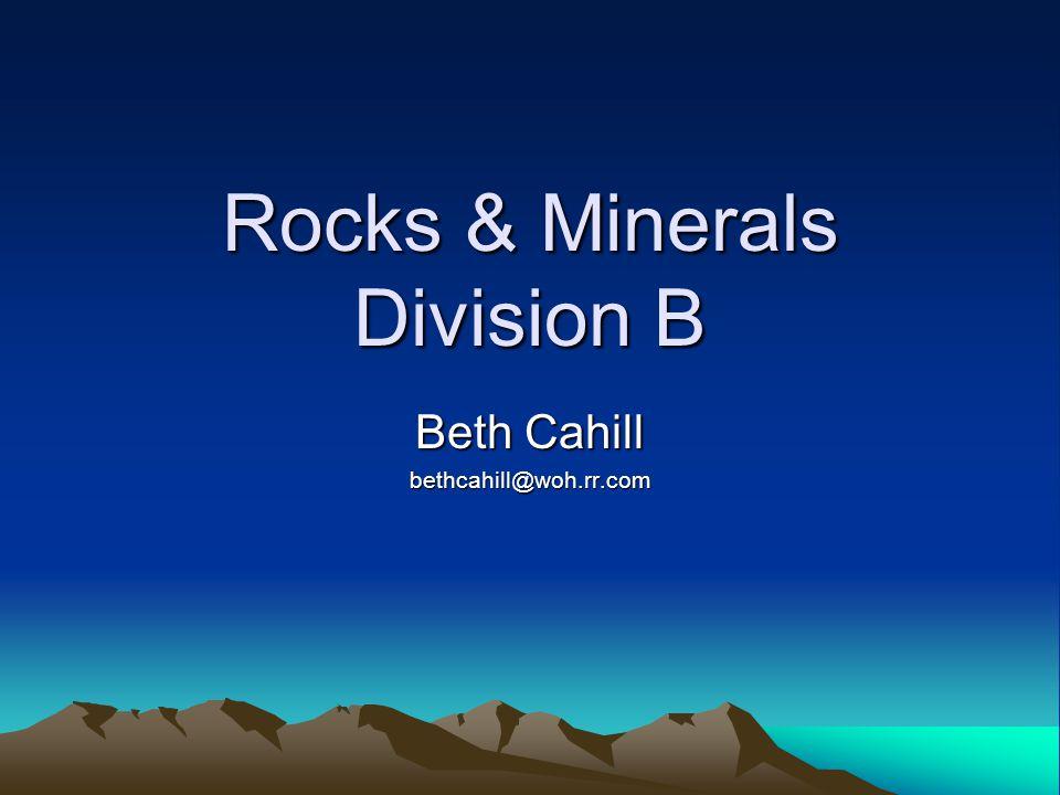 Rocks & Minerals Division B