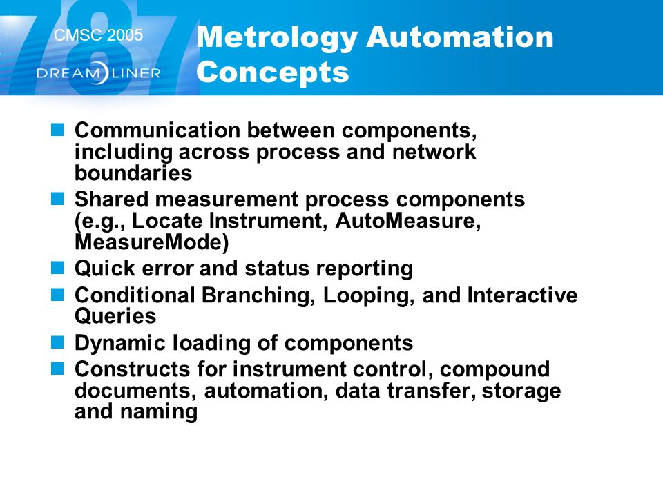 Metrology Automation Concepts
