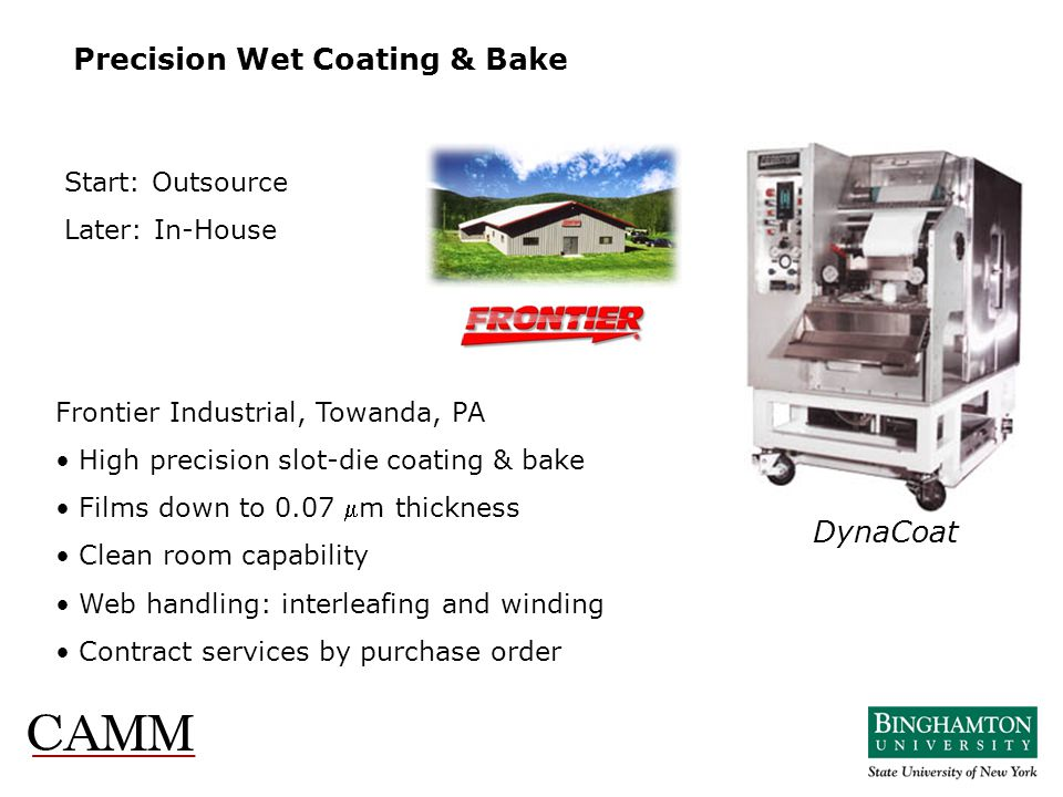 Precision Wet Coating & Bake