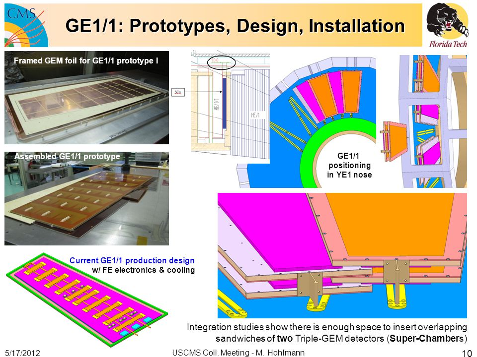 GE1/1: Prototypes, Design, Installation