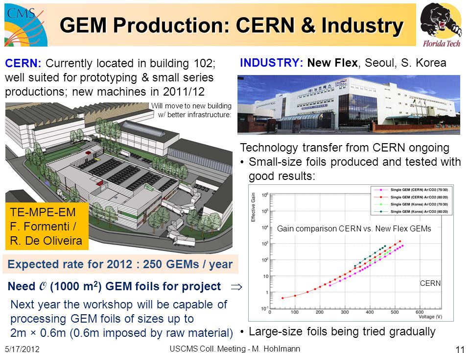 GEM Production: CERN & Industry