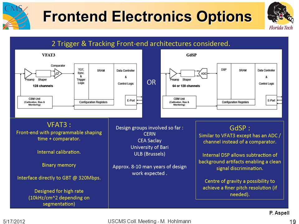 Frontend Electronics Options