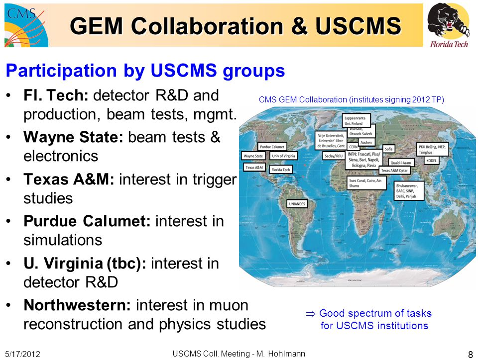 GEM Collaboration & USCMS
