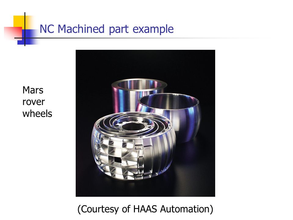 NC Machined part example