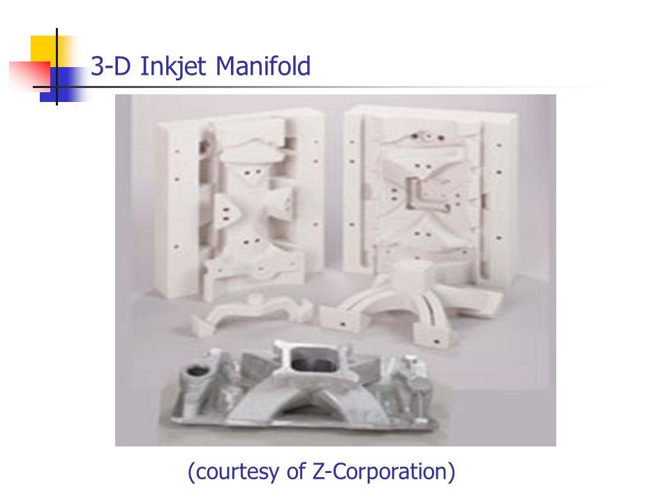 3-D Inkjet Manifold (courtesy of Z-Corporation)