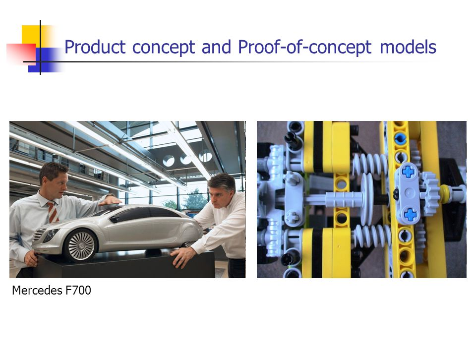 Product concept and Proof-of-concept models