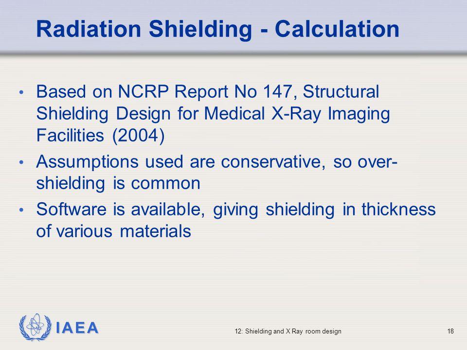 Radiation Shielding - Calculation