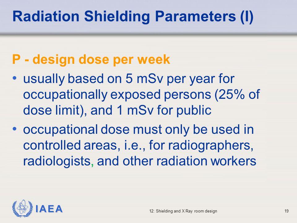 Radiation Shielding Parameters (I)