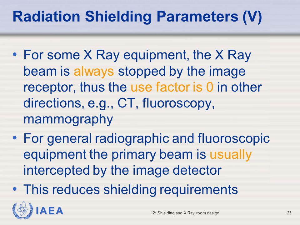 Radiation Shielding Parameters (V)