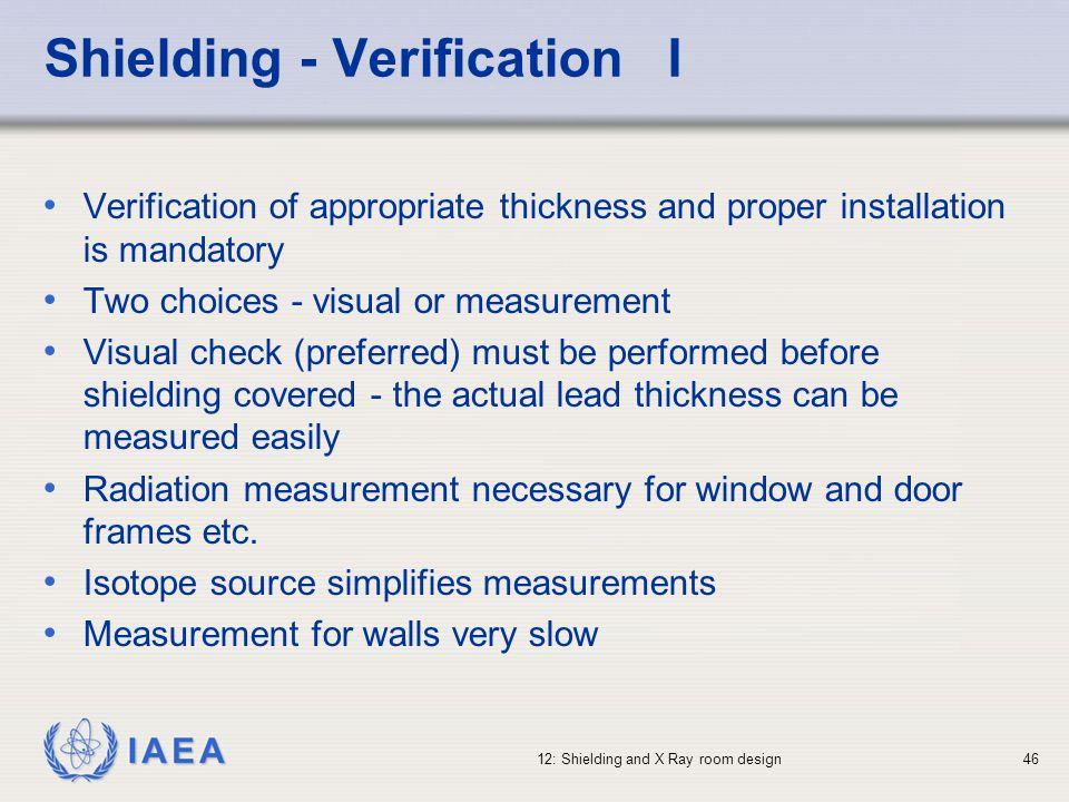 Shielding - Verification I
