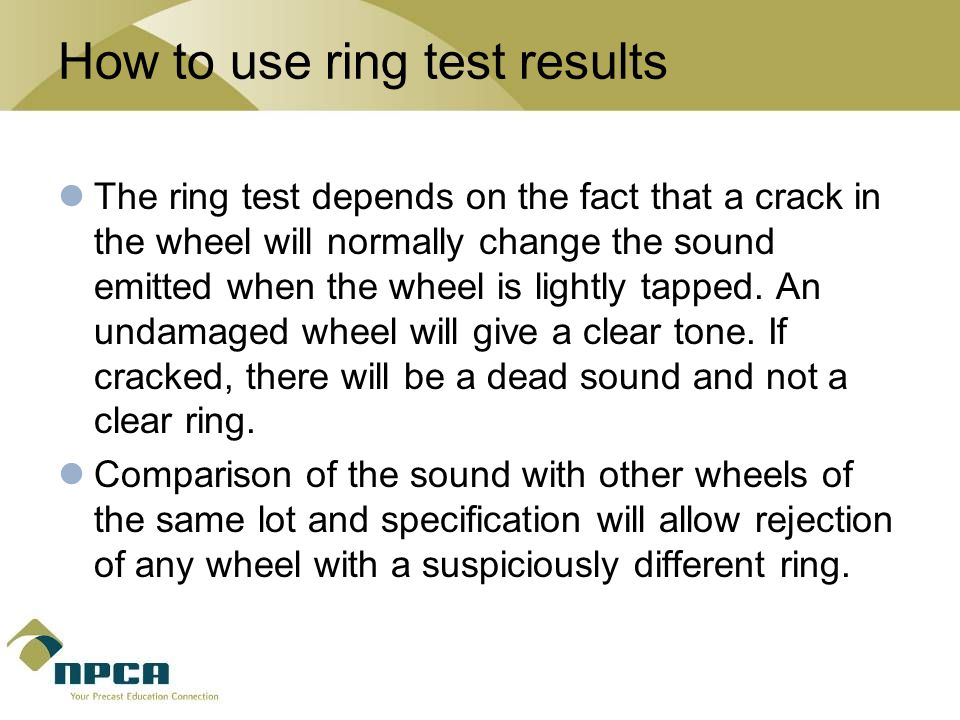 How to use ring test results
