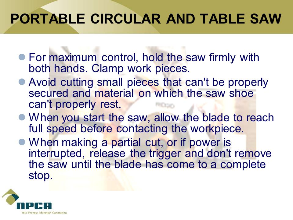 PORTABLE CIRCULAR AND TABLE SAW