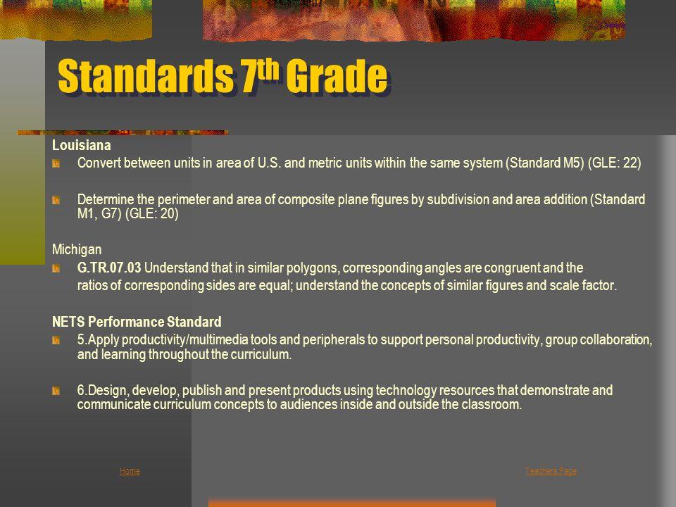 Standards 7th Grade Louisiana