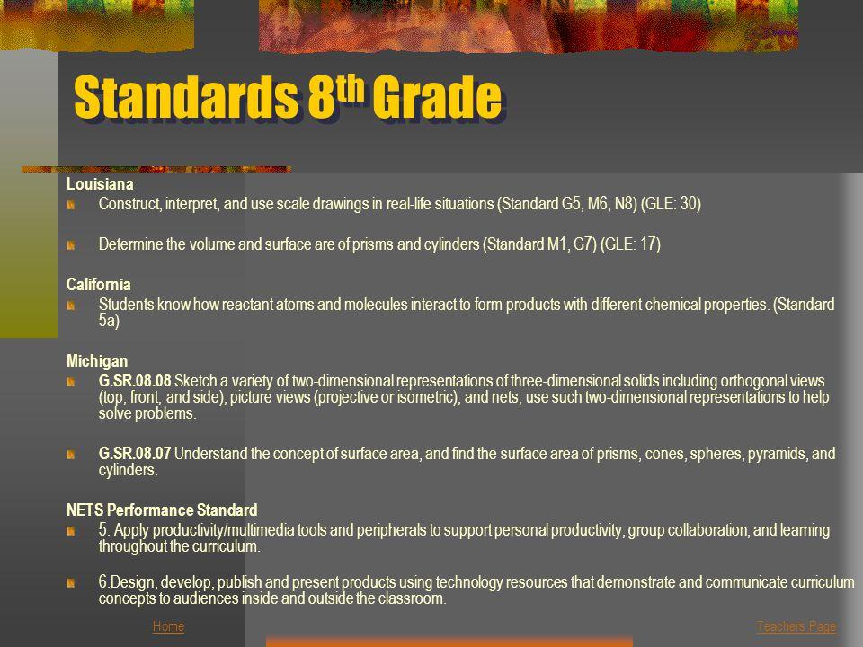 Standards 8th Grade Louisiana