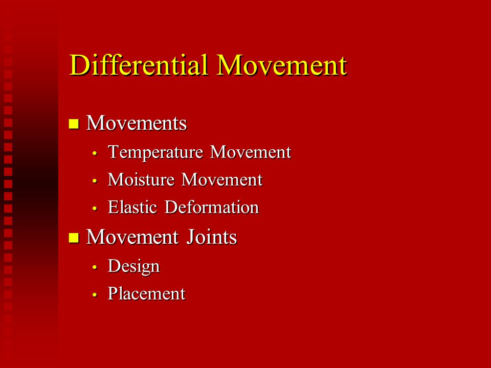 Differential Movement