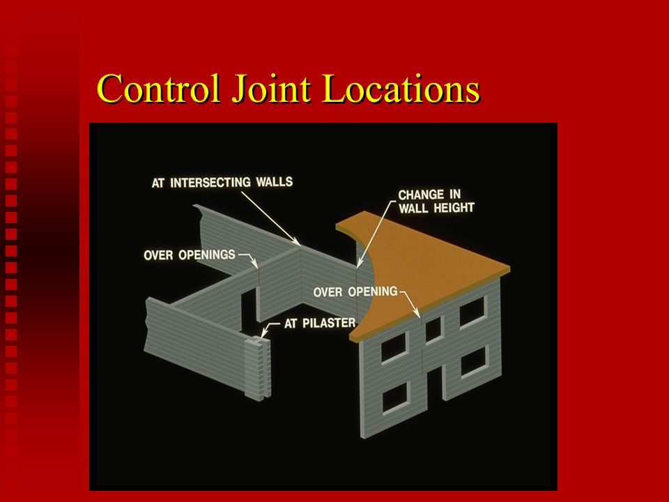 Control Joint Locations
