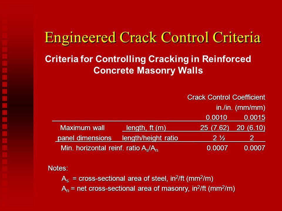 Engineered Crack Control Criteria
