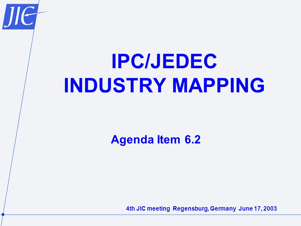 IPC/JEDEC INDUSTRY MAPPING