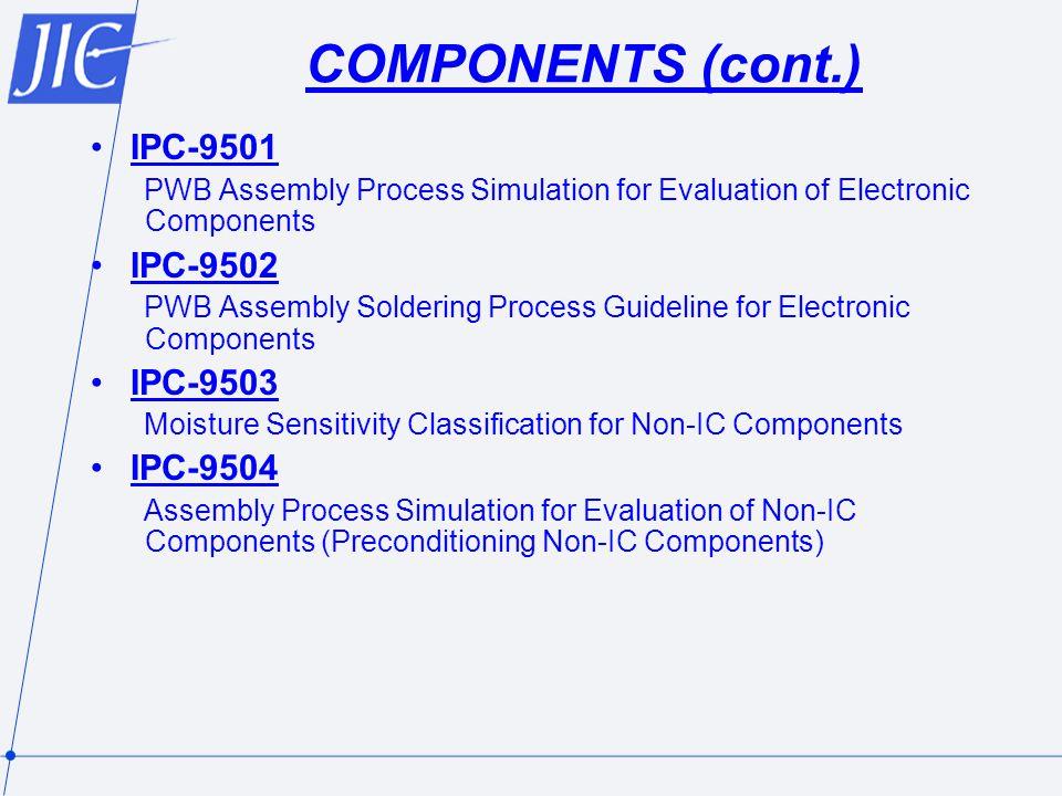 COMPONENTS (cont.) IPC-9501 IPC-9502 IPC-9503 IPC-9504
