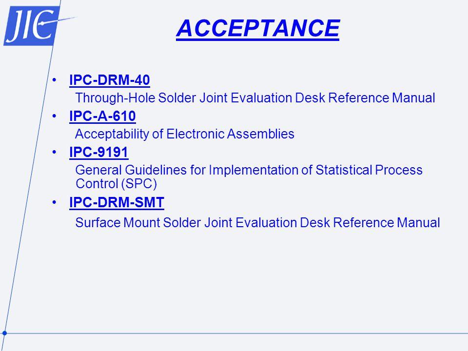 ACCEPTANCE IPC-DRM-40 IPC-A-610 IPC-9191 IPC-DRM-SMT