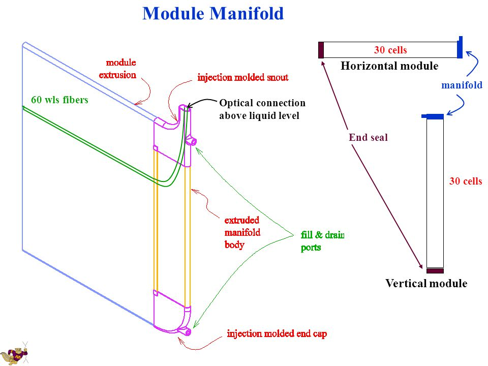 Module Manifold Horizontal module Vertical module 30 cells manifold