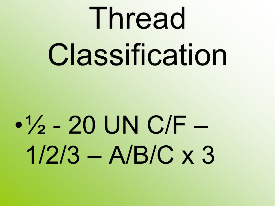 Thread Classification