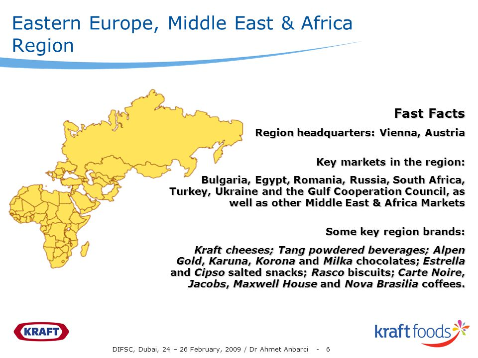 Eastern Europe, Middle East & Africa Region