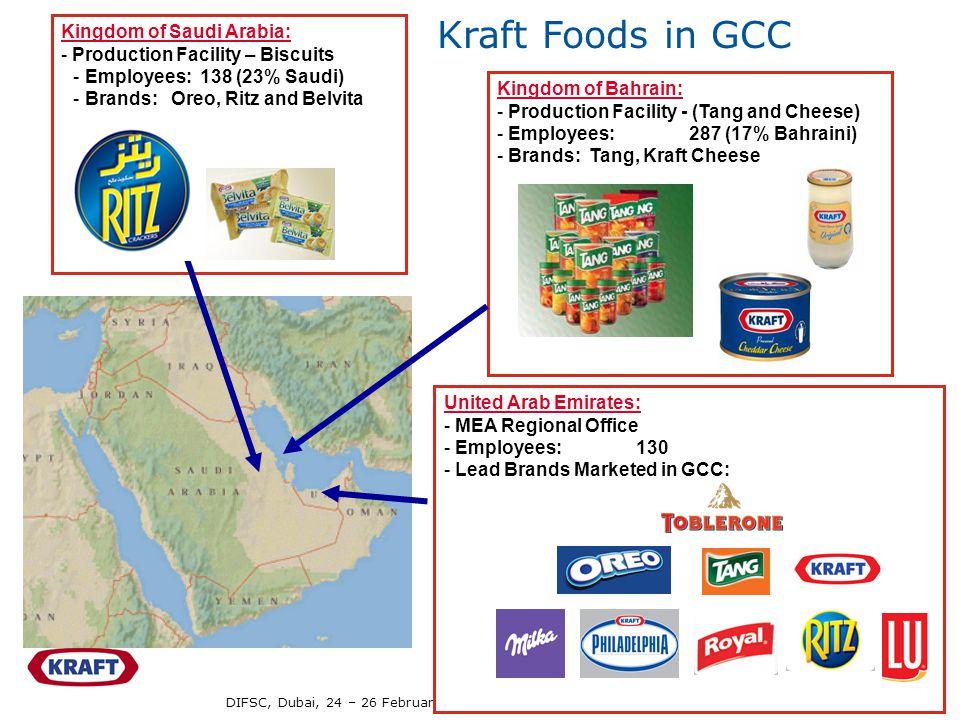 Kraft Foods in GCC Kingdom of Saudi Arabia: