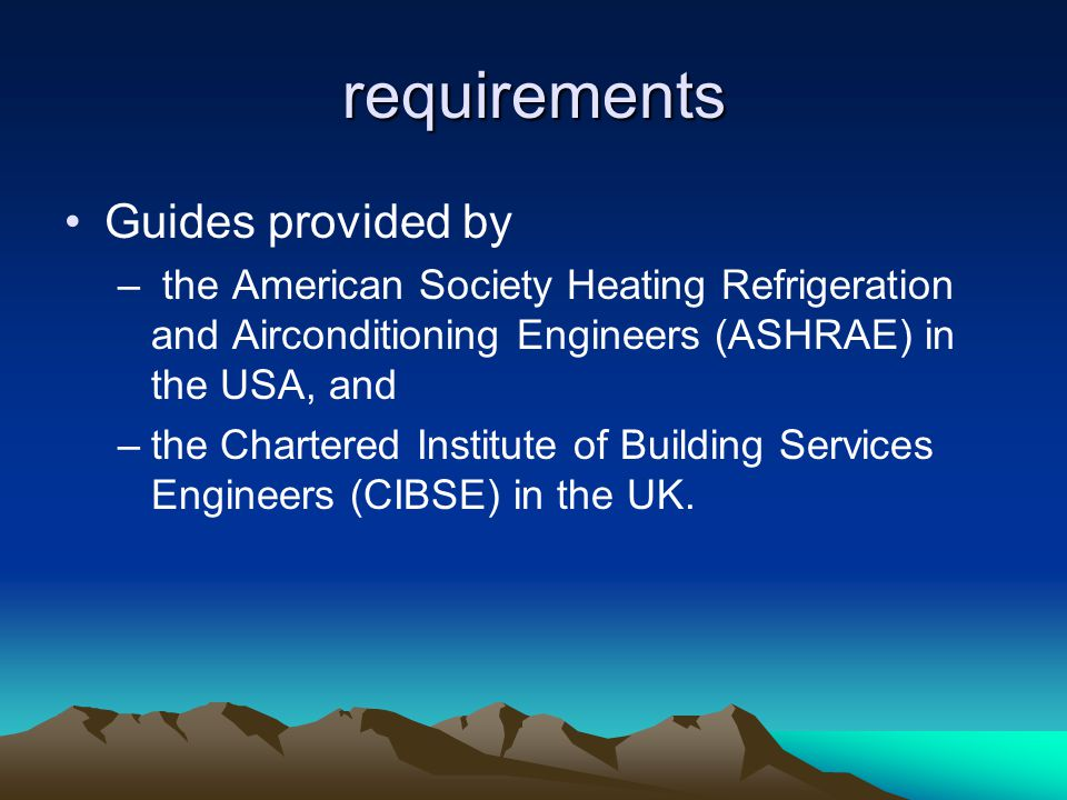 requirements Guides provided by