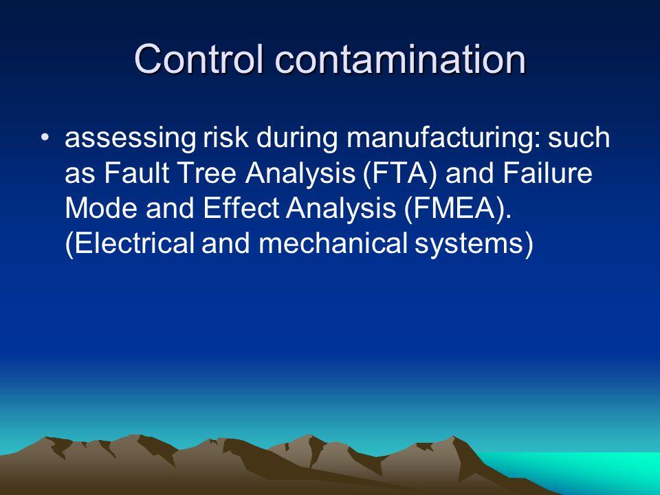 Control contamination